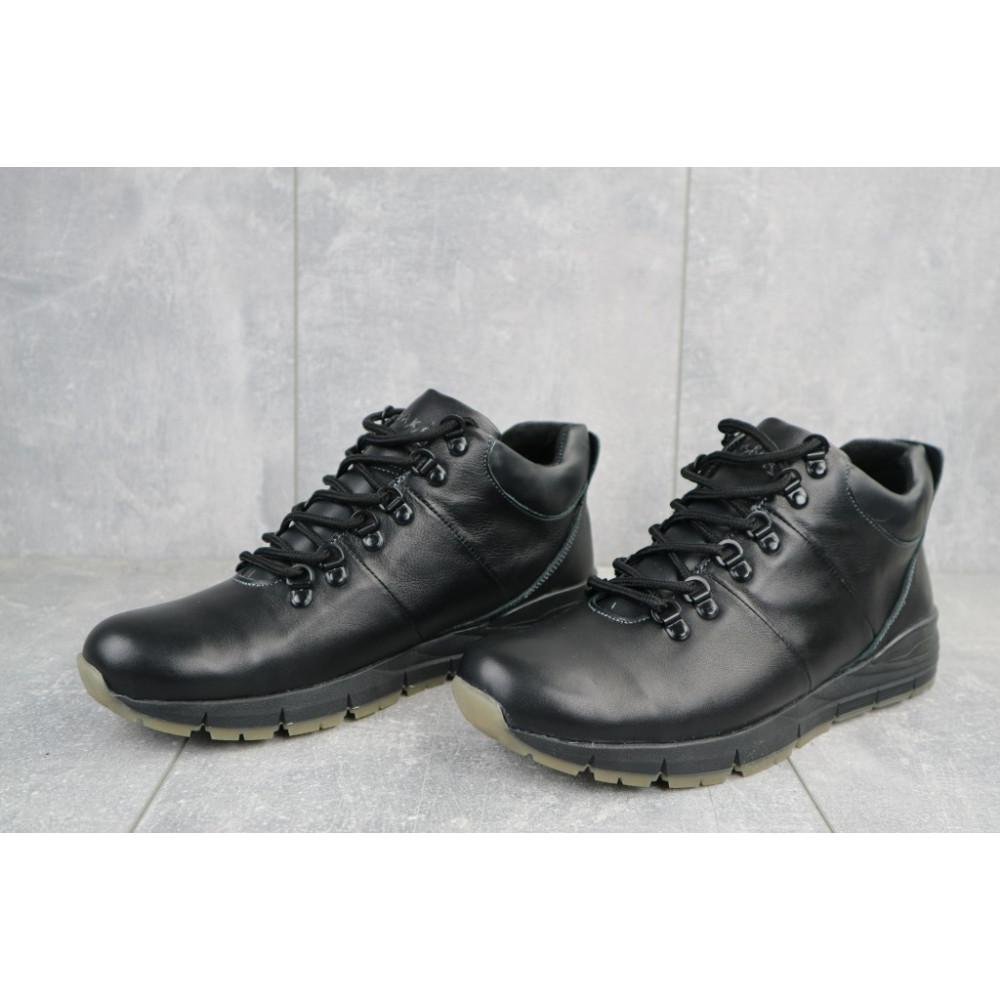 Мужские ботинки зимние - Мужские ботинки кожаные зимние черные Yuves Obr 8 3
