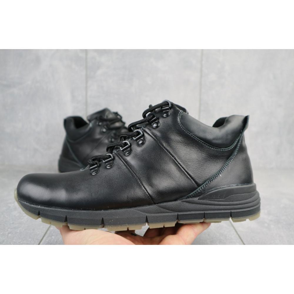 Мужские ботинки зимние - Мужские ботинки кожаные зимние черные Yuves Obr 8 2