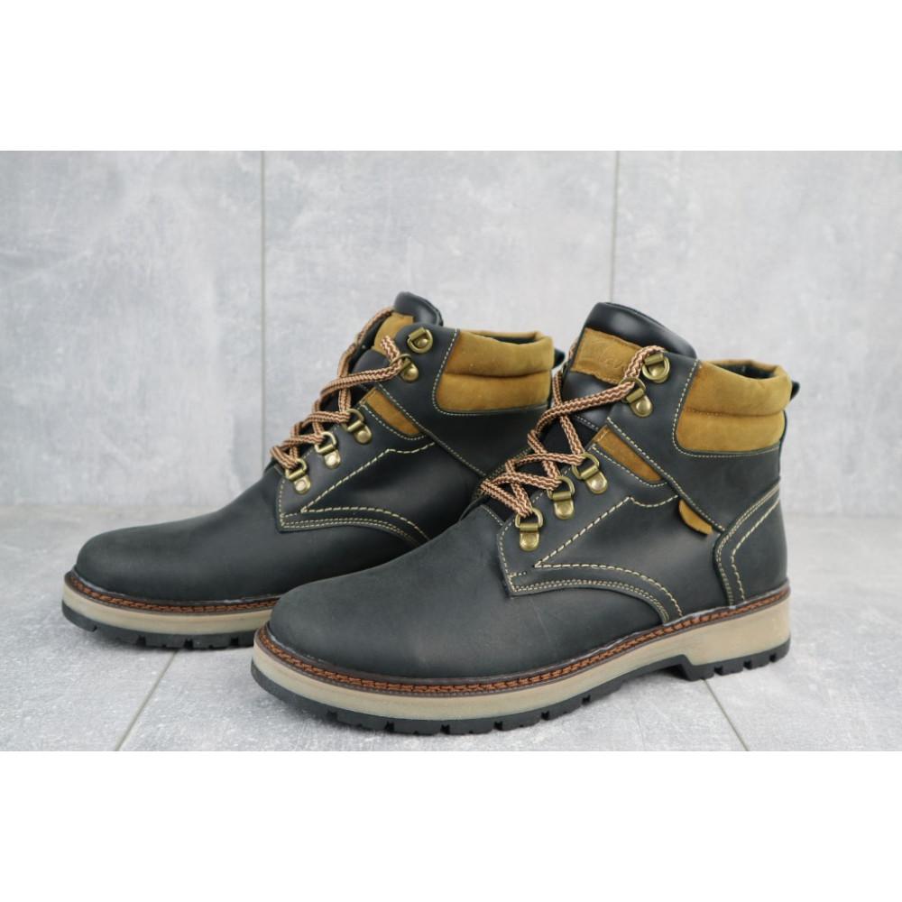 Мужские ботинки зимние - Мужские ботинки кожаные зимние черные Yuves Obr 11 3