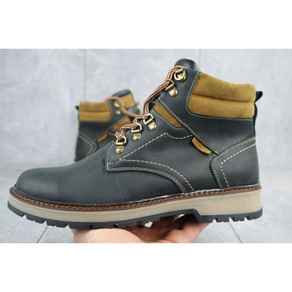 Мужские ботинки зимние - Мужские ботинки кожаные зимние черные Yuves Obr 11 2