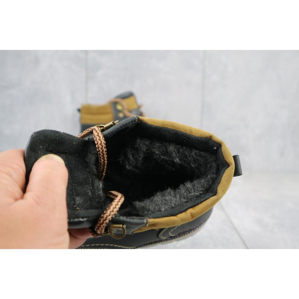 Мужские ботинки зимние - Мужские ботинки кожаные зимние черные Yuves Obr 11 1