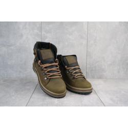 Подростковые ботинки кожаные зимние оливковые-черные CrosSAV 322