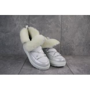 Женские ботинки кожаные зимние белые BENZ 70201,1