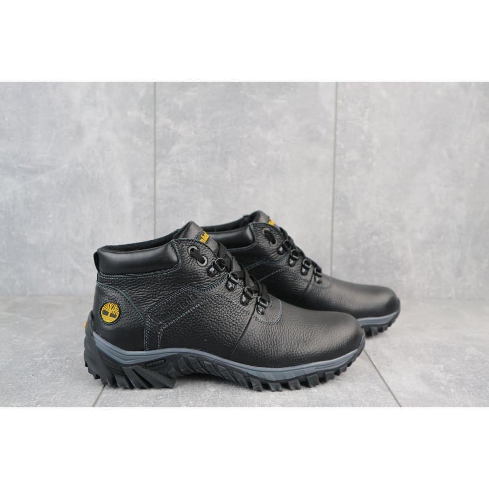 Мужские ботинки зимние - Мужские ботинки кожаные зимние черные Yuves 802 4