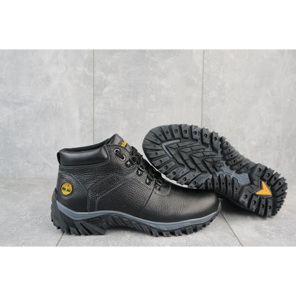 Мужские ботинки зимние - Мужские ботинки кожаные зимние черные Yuves 802 5