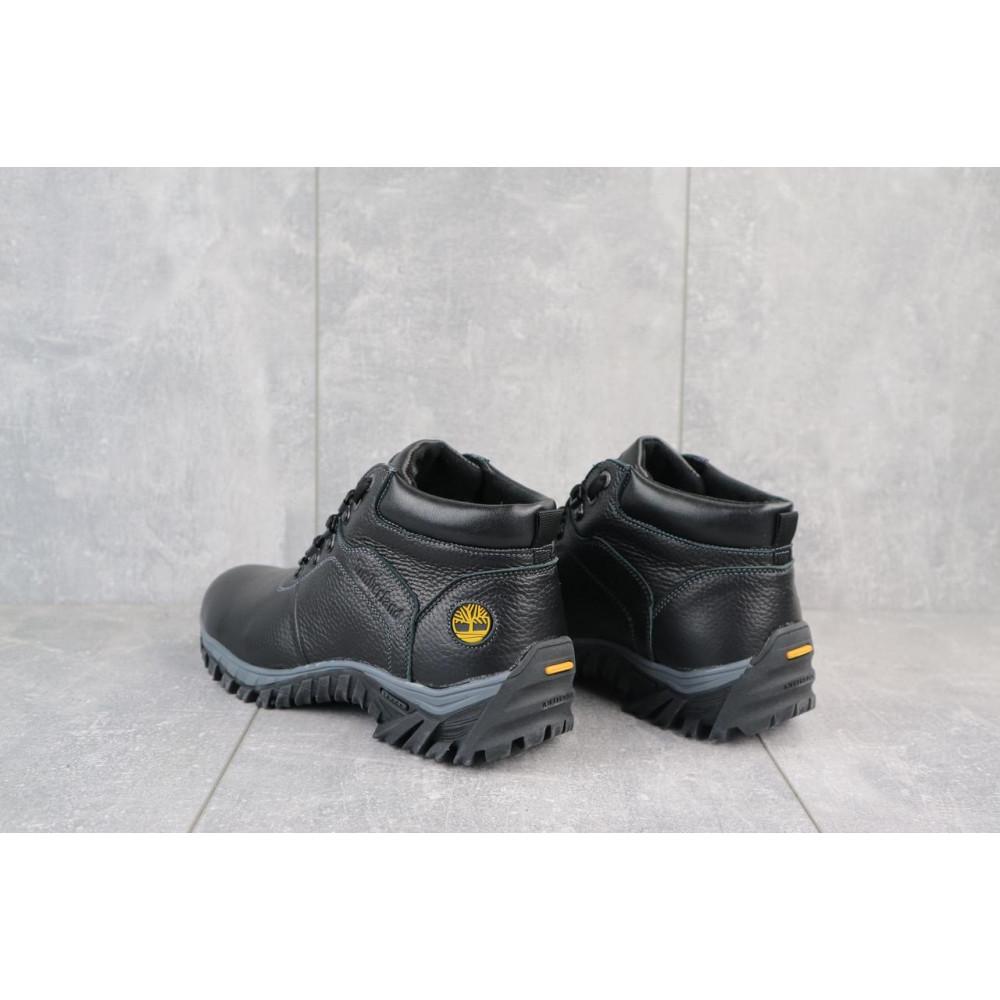 Мужские ботинки зимние - Мужские ботинки кожаные зимние черные Yuves 802 2