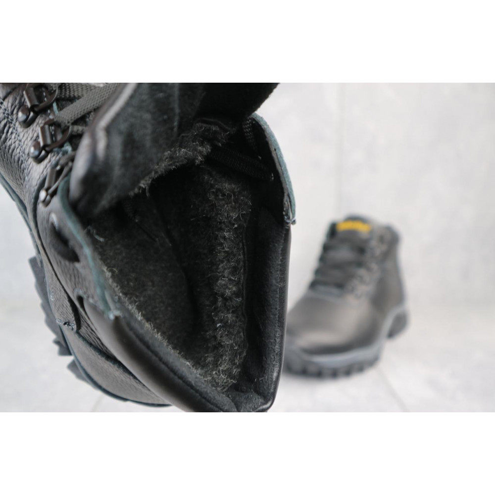 Мужские ботинки зимние - Мужские ботинки кожаные зимние черные Yuves 802 1