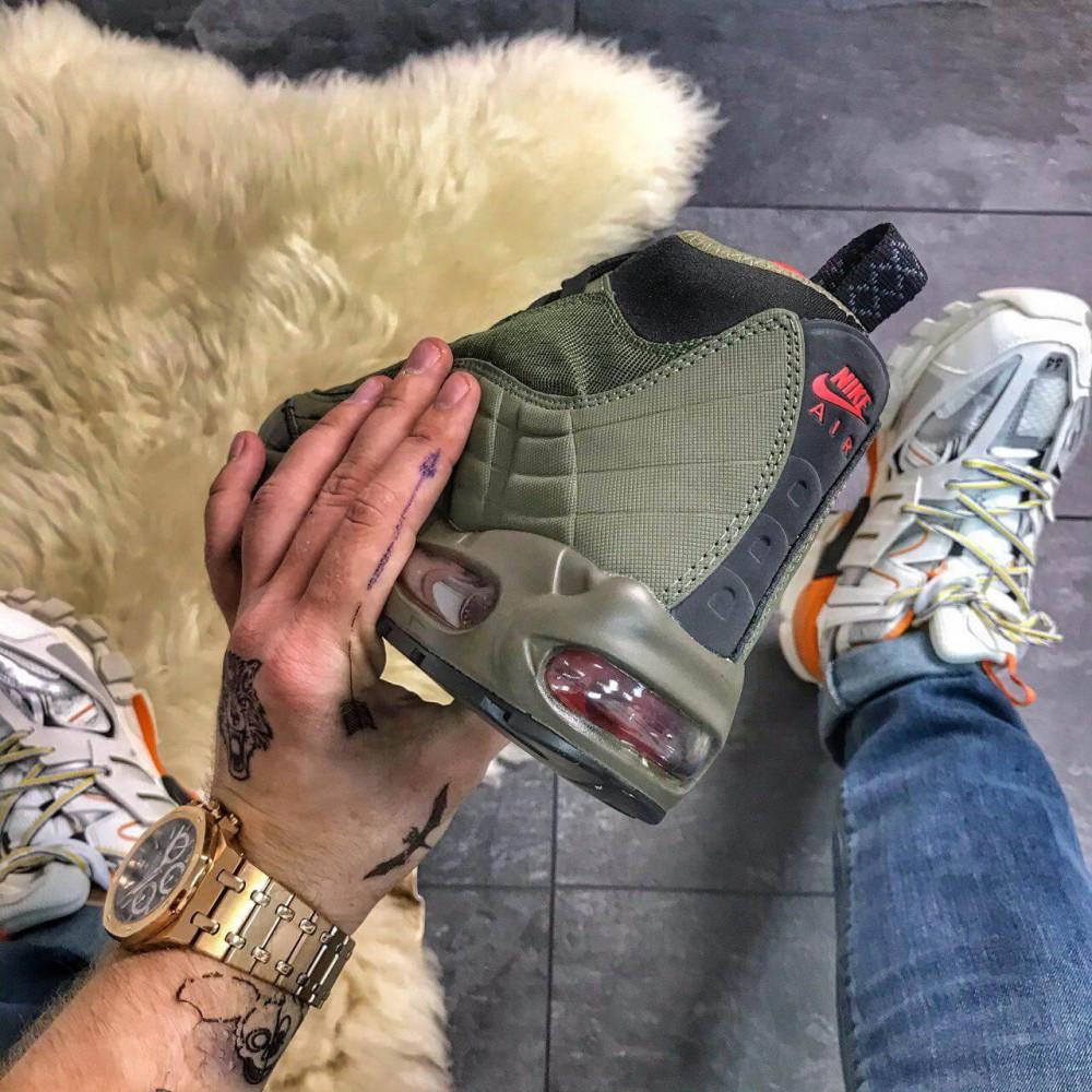 Зимние кроссовки мужские - Мужские термо кроссовки Nike Air Max 95 Sneakerboot Olive Red Cargo Khaki 4