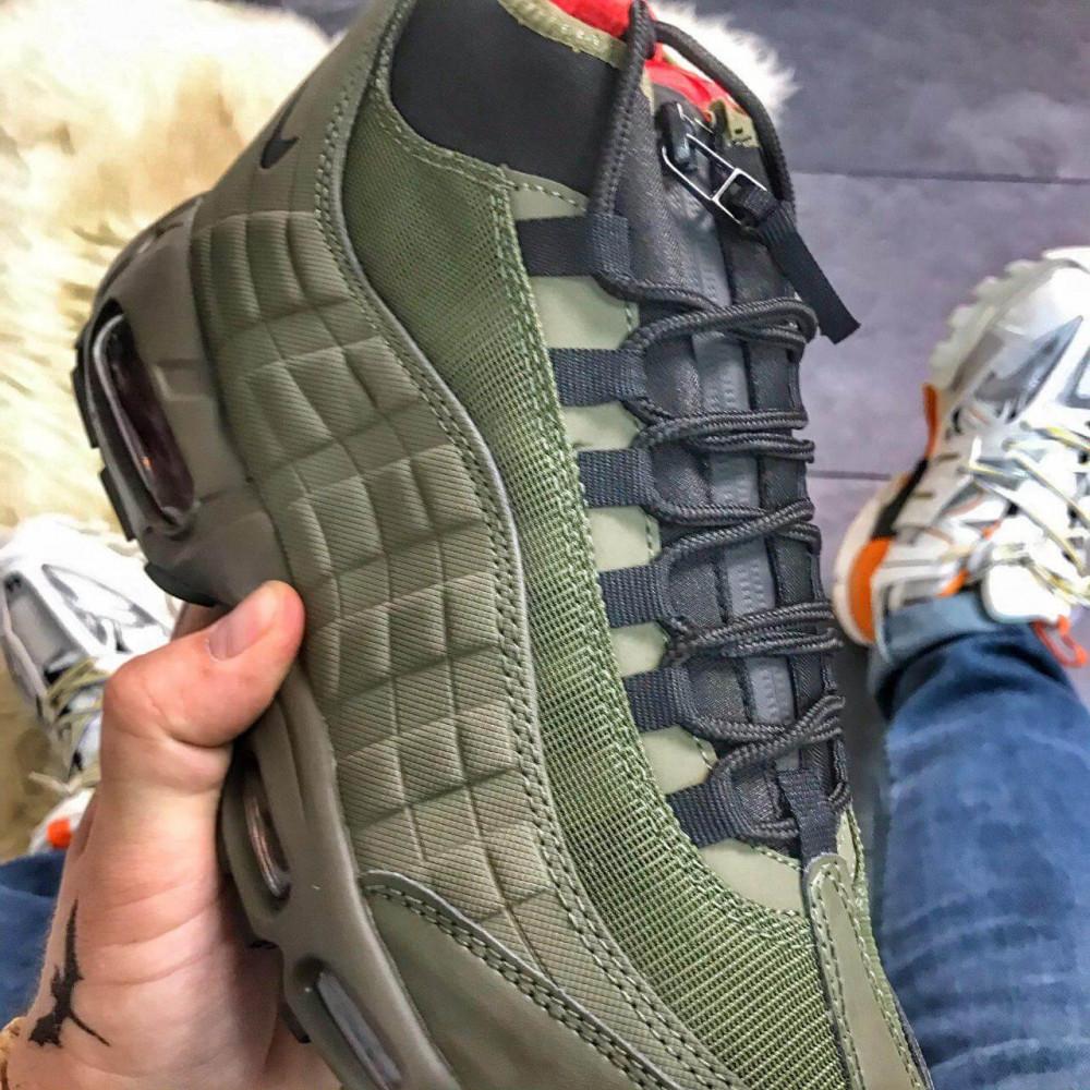 Зимние кроссовки мужские - Мужские термо кроссовки Nike Air Max 95 Sneakerboot Olive Red Cargo Khaki 1