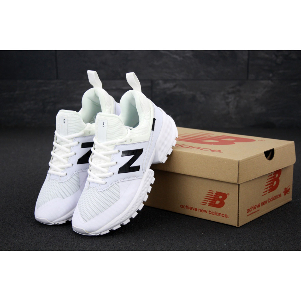Классические кроссовки мужские - Мужские кроссовки New Balance 574 Sport V2 белого цвета