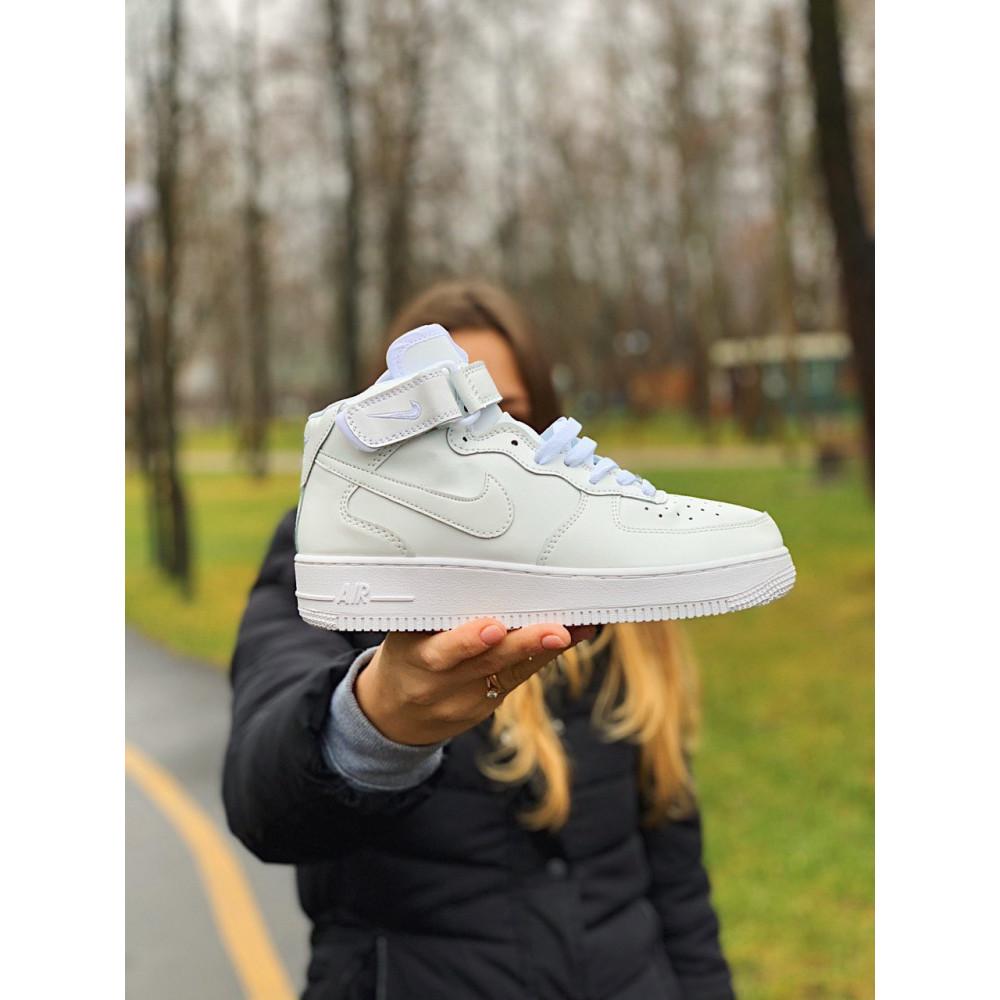 Кожаные кроссовки мужские - Кроссовки  высокие натуральная кожа Nike Air Force Найк Аир Форс (36,37,40) 9