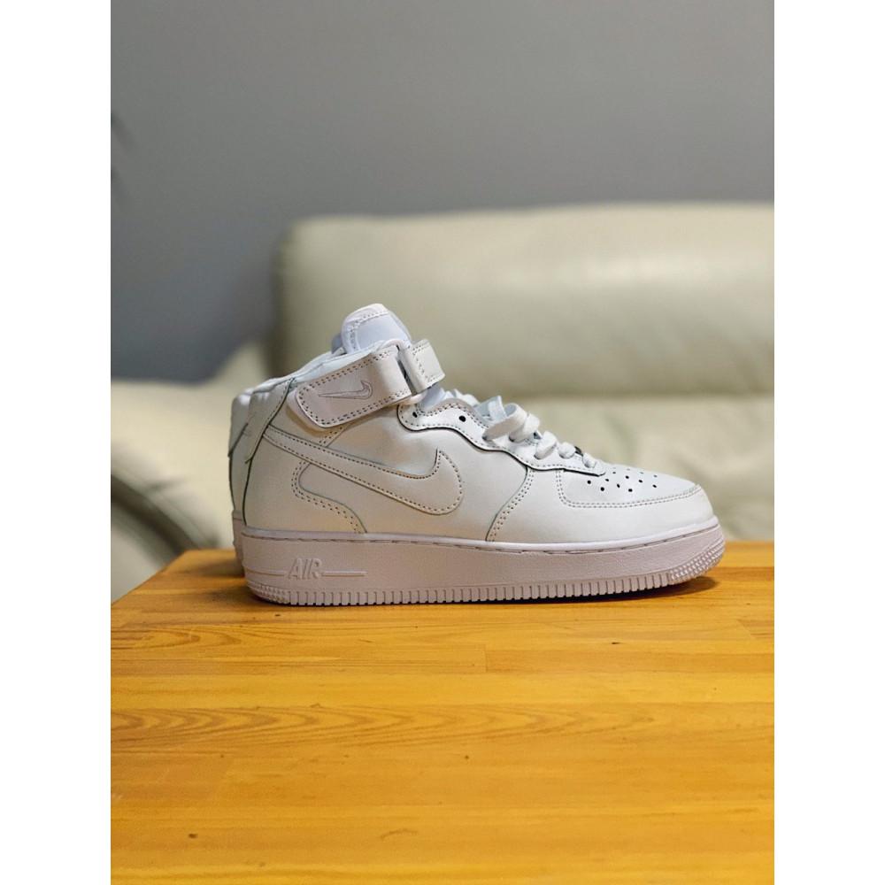 Кожаные кроссовки мужские - Кроссовки  высокие натуральная кожа Nike Air Force Найк Аир Форс (36,37,40) 8