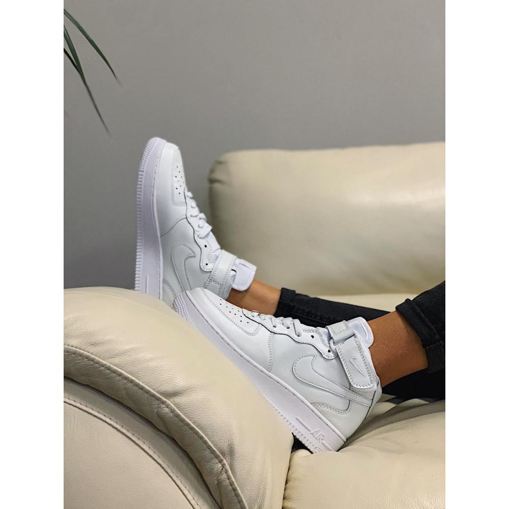 Кожаные кроссовки мужские - Кроссовки  высокие натуральная кожа Nike Air Force Найк Аир Форс (36,37,40) 7