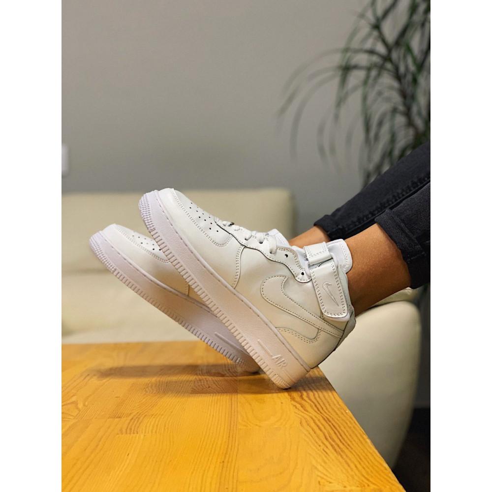 Кожаные кроссовки мужские - Кроссовки  высокие натуральная кожа Nike Air Force Найк Аир Форс (36,37,40) 6