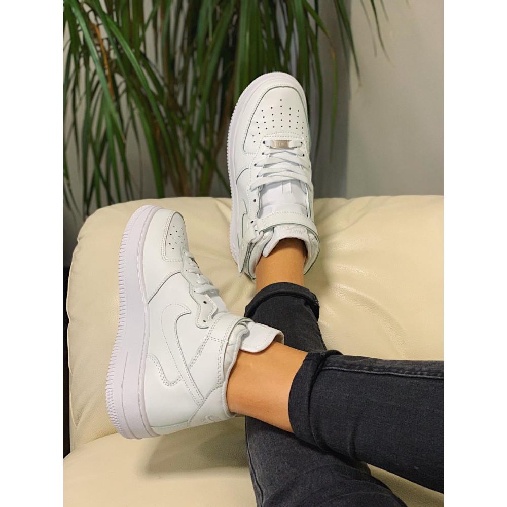 Кожаные кроссовки мужские - Кроссовки  высокие натуральная кожа Nike Air Force Найк Аир Форс (36,37,40) 4