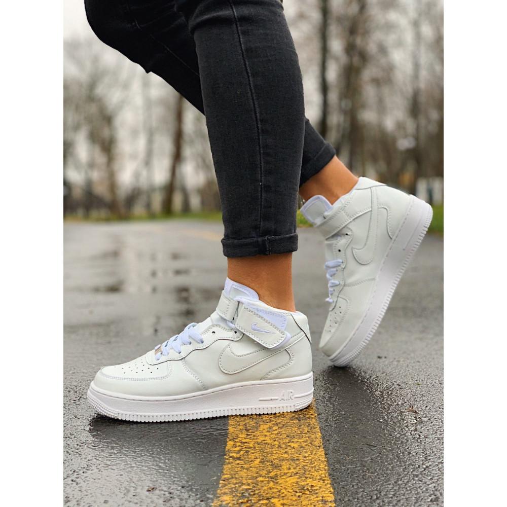 Кожаные кроссовки мужские - Кроссовки  высокие натуральная кожа Nike Air Force Найк Аир Форс (36,37,40) 5