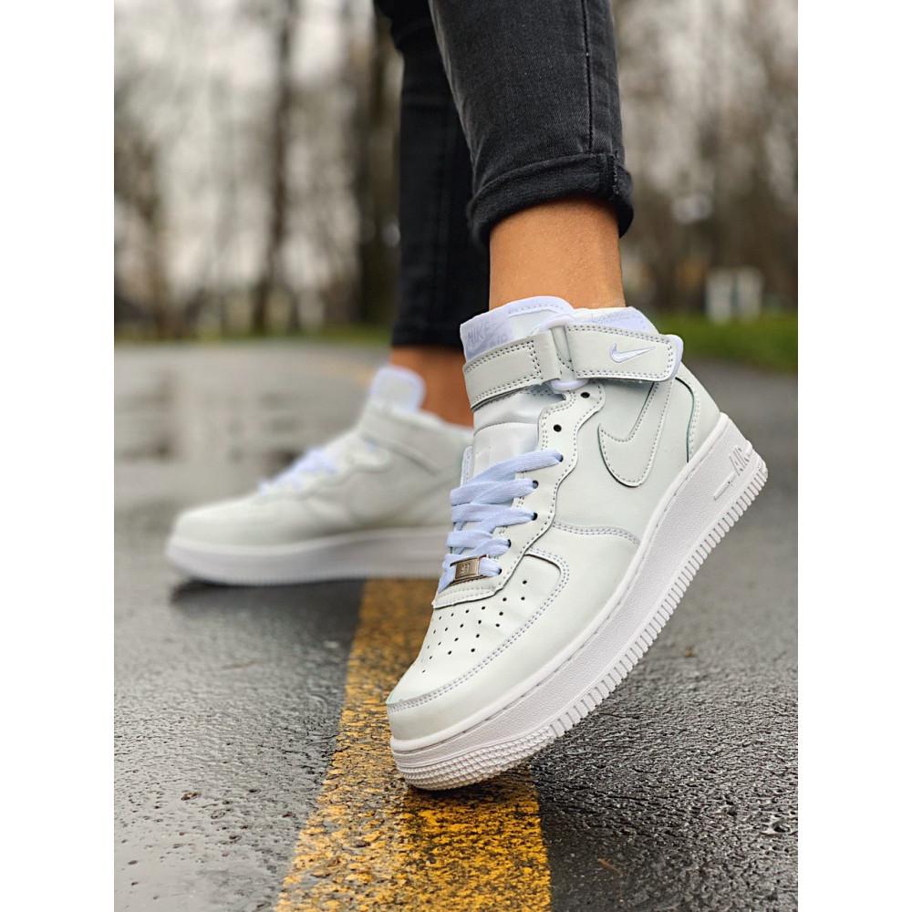 Кожаные кроссовки мужские - Кроссовки  высокие натуральная кожа Nike Air Force Найк Аир Форс (36,37,40) 3