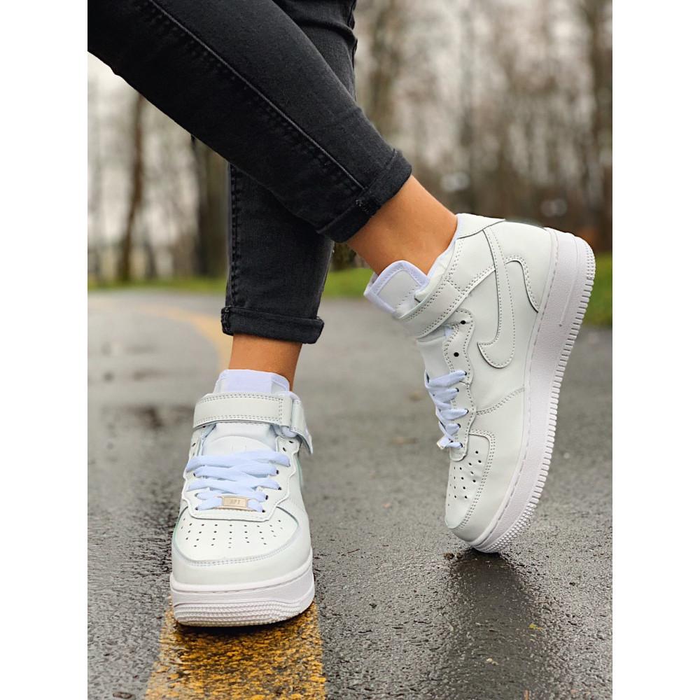 Кожаные кроссовки мужские - Кроссовки  высокие натуральная кожа Nike Air Force Найк Аир Форс (36,37,40) 2
