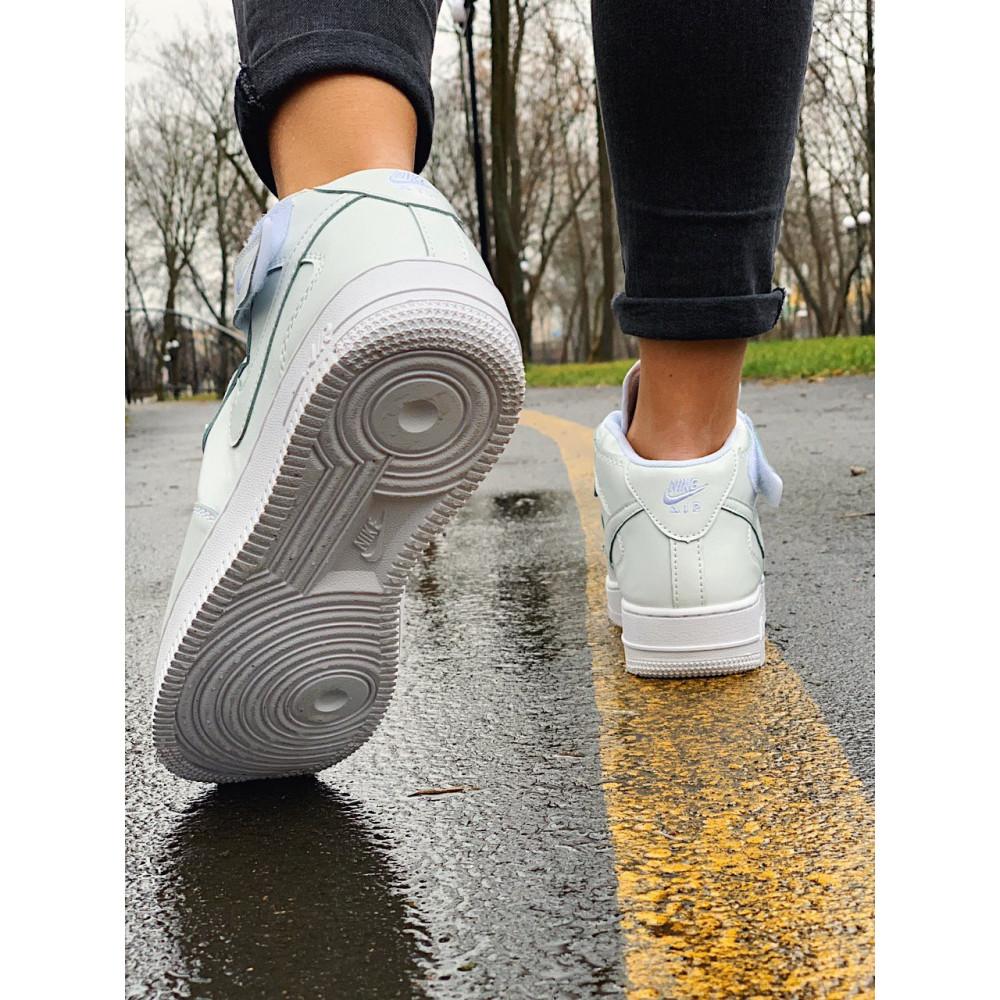 Кожаные кроссовки мужские - Кроссовки  высокие натуральная кожа Nike Air Force Найк Аир Форс (36,37,40) 1