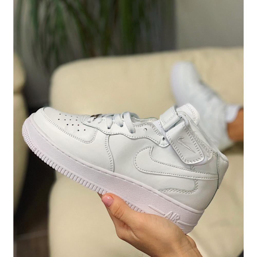 Кожаные кроссовки мужские - Кроссовки  высокие натуральная кожа Nike Air Force Найк Аир Форс (36,37,40)