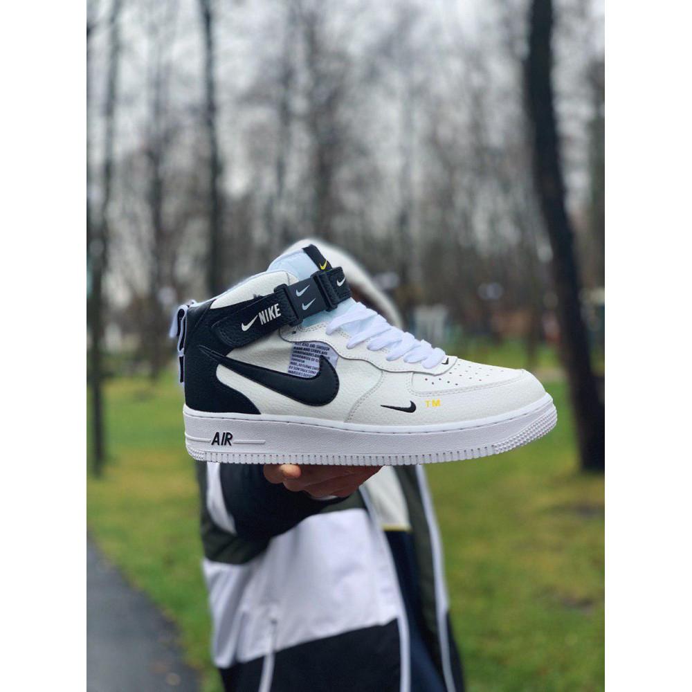 Демисезонные кроссовки мужские   - Кроссовки высокие натуральная кожа Nike Air Force Найк Аир Форс (41,42,43,44,45) 7
