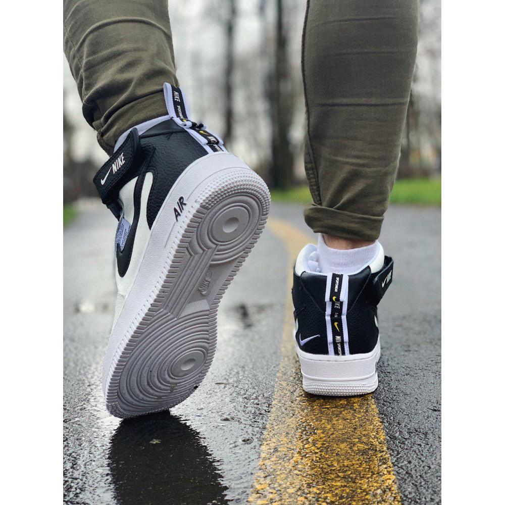 Демисезонные кроссовки мужские   - Кроссовки высокие натуральная кожа Nike Air Force Найк Аир Форс (41,42,43,44,45) 6