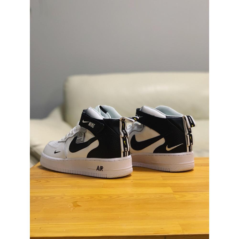 Демисезонные кроссовки мужские   - Кроссовки высокие натуральная кожа Nike Air Force Найк Аир Форс (41,42,43,44,45) 5