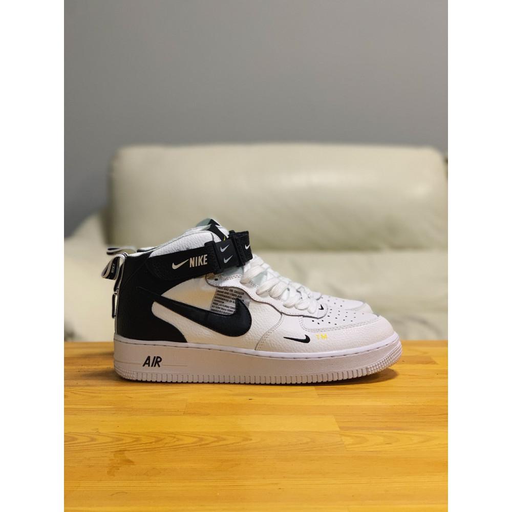Демисезонные кроссовки мужские   - Кроссовки высокие натуральная кожа Nike Air Force Найк Аир Форс (41,42,43,44,45) 4