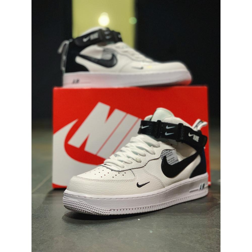 Демисезонные кроссовки мужские   - Кроссовки высокие натуральная кожа Nike Air Force Найк Аир Форс (41,42,43,44,45) 3
