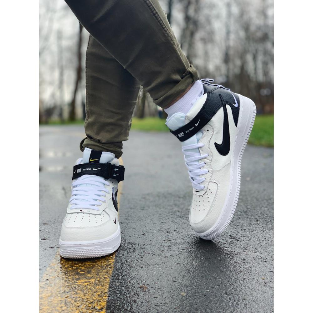 Демисезонные кроссовки мужские   - Кроссовки высокие натуральная кожа Nike Air Force Найк Аир Форс (41,42,43,44,45) 2