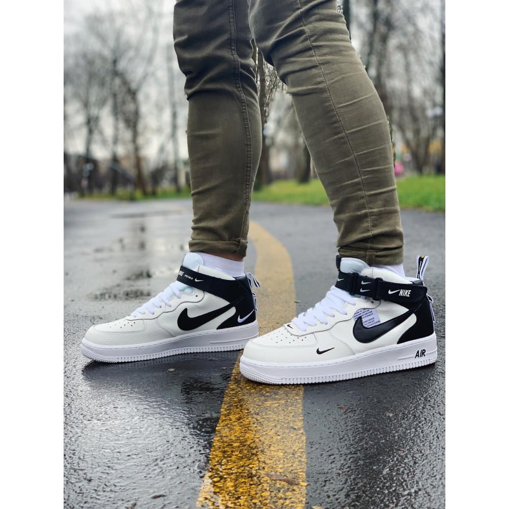 Демисезонные кроссовки мужские   - Кроссовки высокие натуральная кожа Nike Air Force Найк Аир Форс (41,42,43,44,45) 1