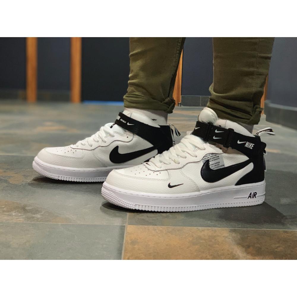 Демисезонные кроссовки мужские   - Кроссовки высокие натуральная кожа Nike Air Force Найк Аир Форс (41,42,43,44,45) 8