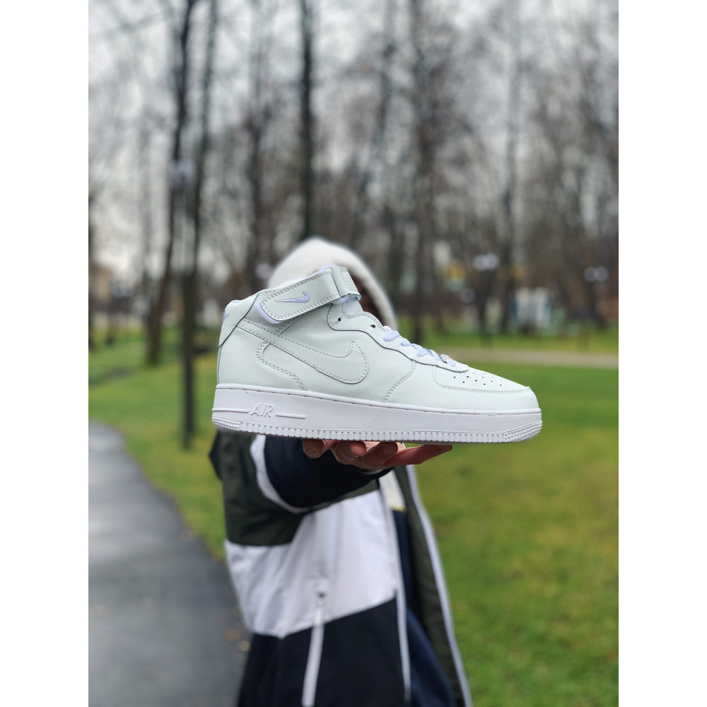 Кожаные кроссовки мужские - Кроссовки  высокие натуральная кожа Nike Air Force Найк Аир Форс (41,42,43,44,45) 7