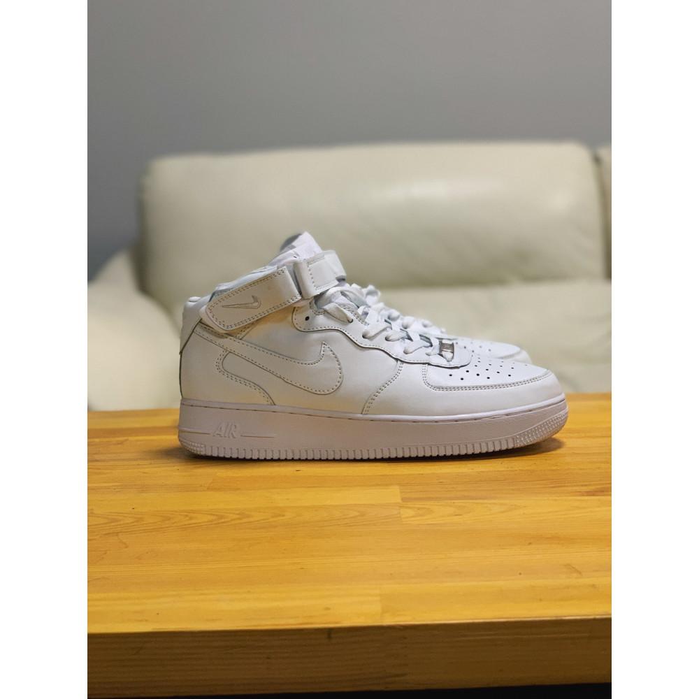 Кожаные кроссовки мужские - Кроссовки  высокие натуральная кожа Nike Air Force Найк Аир Форс (41,42,43,44,45) 6