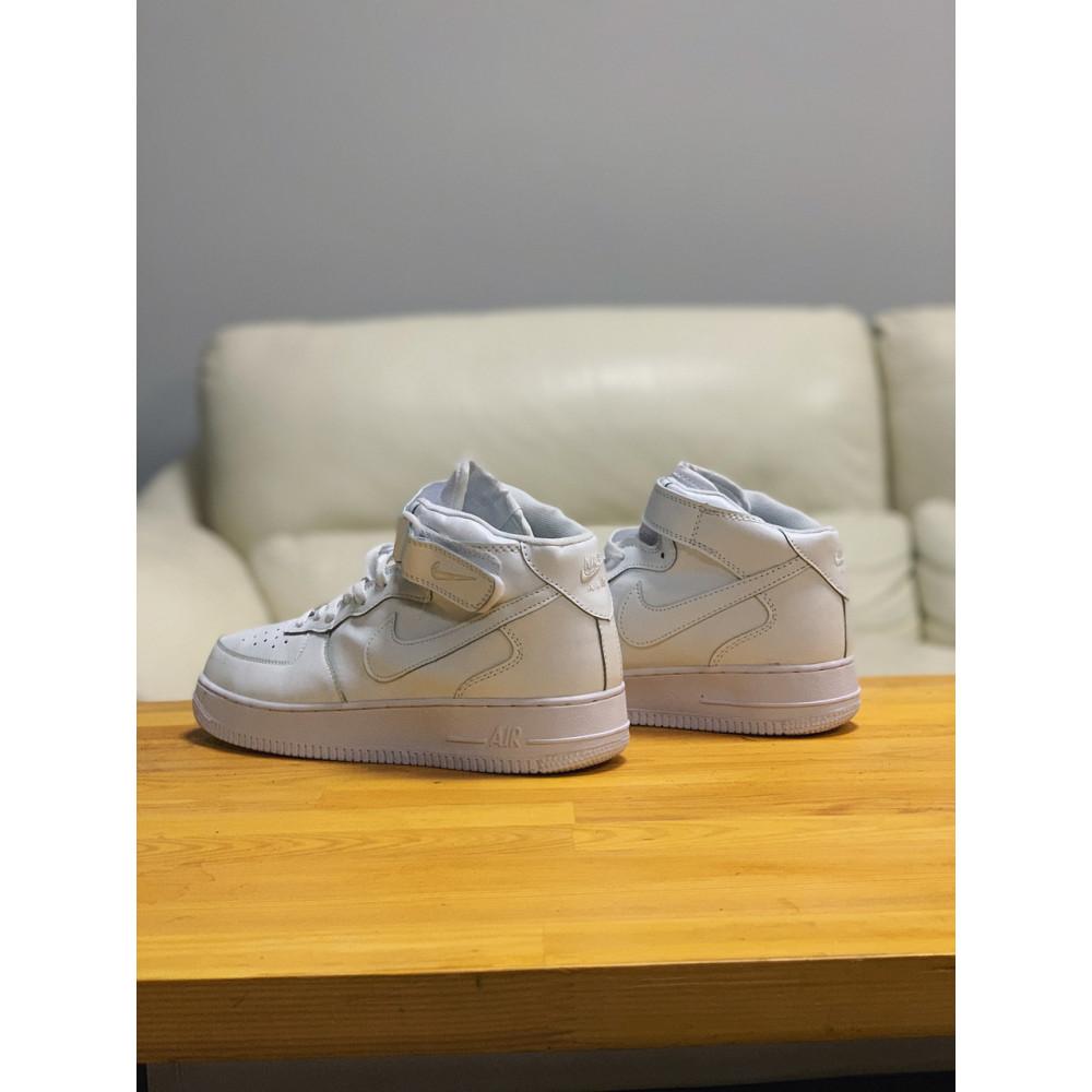 Кожаные кроссовки мужские - Кроссовки  высокие натуральная кожа Nike Air Force Найк Аир Форс (41,42,43,44,45) 5