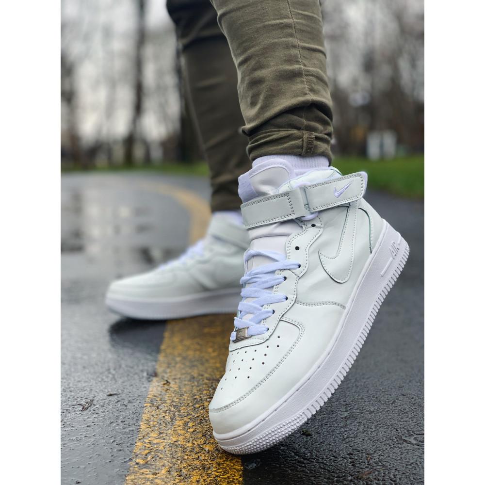 Кожаные кроссовки мужские - Кроссовки  высокие натуральная кожа Nike Air Force Найк Аир Форс (41,42,43,44,45) 4