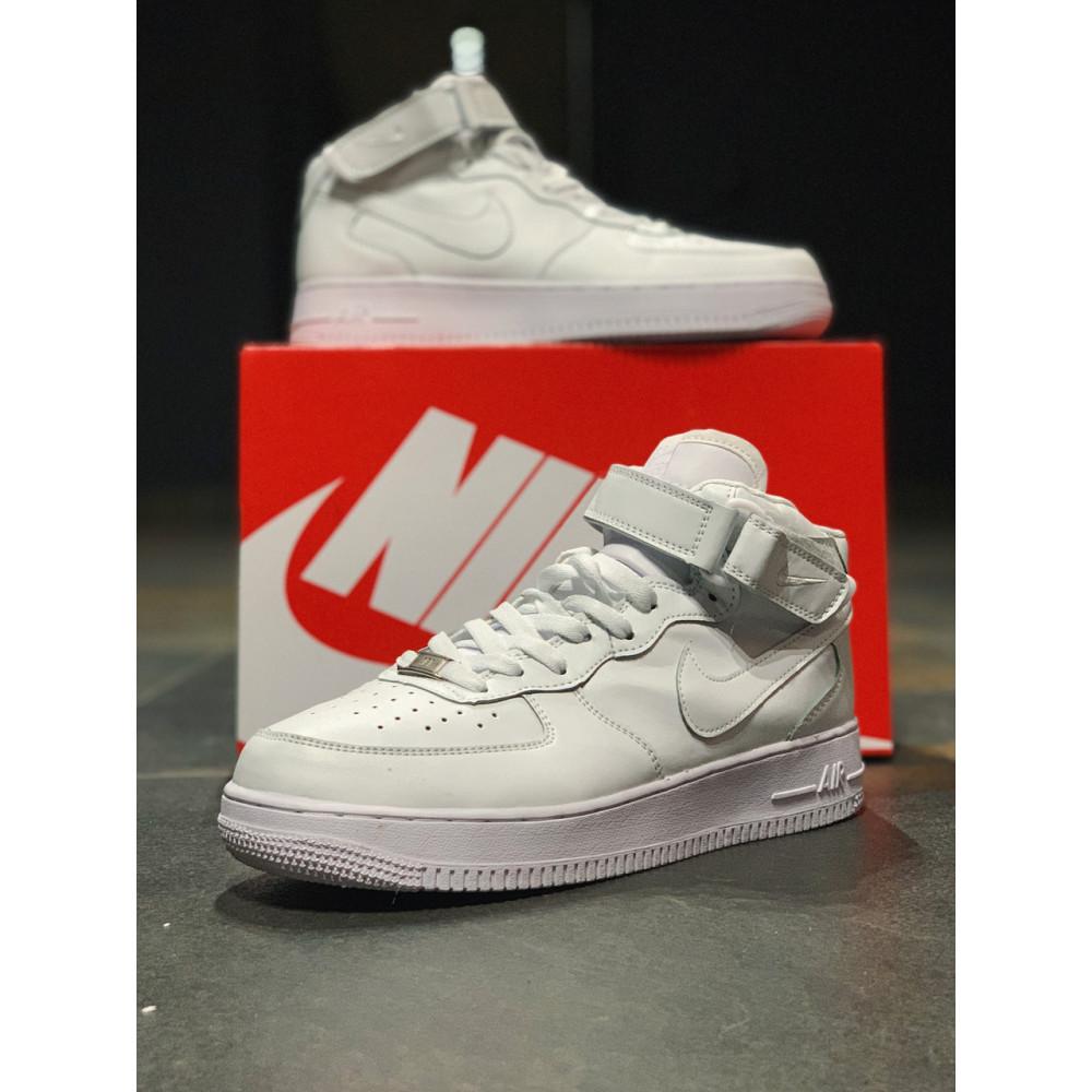 Кожаные кроссовки мужские - Кроссовки  высокие натуральная кожа Nike Air Force Найк Аир Форс (41,42,43,44,45) 2