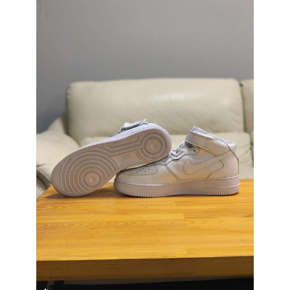 Кожаные кроссовки мужские - Кроссовки  высокие натуральная кожа Nike Air Force Найк Аир Форс (41,42,43,44,45) 3