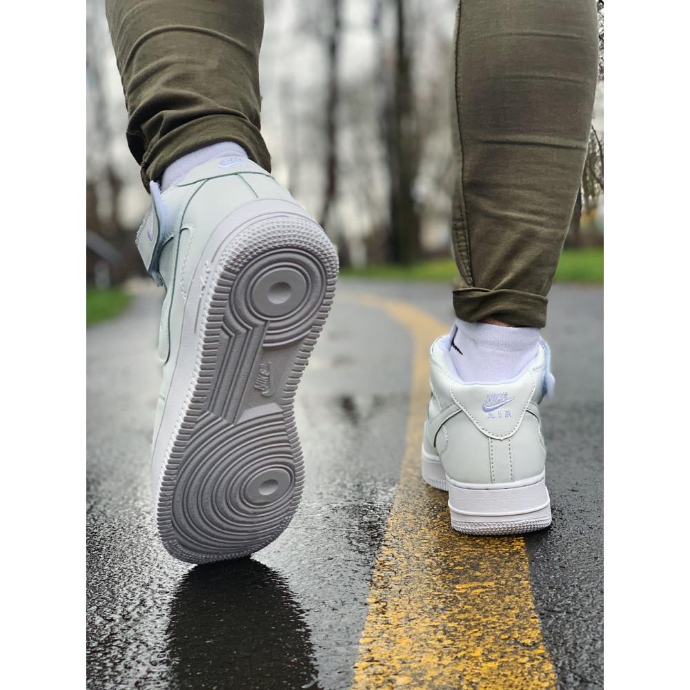 Кожаные кроссовки мужские - Кроссовки  высокие натуральная кожа Nike Air Force Найк Аир Форс (41,42,43,44,45) 1