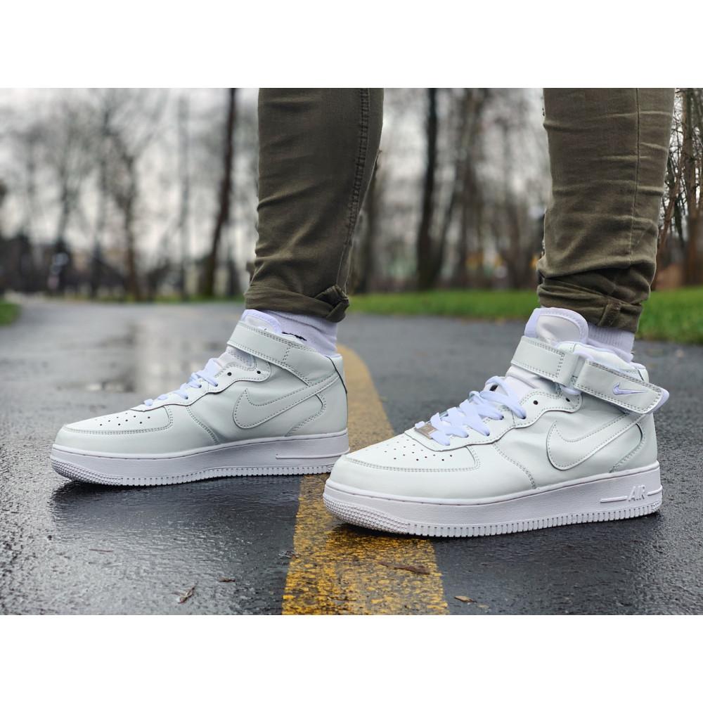 Кожаные кроссовки мужские - Кроссовки  высокие натуральная кожа Nike Air Force Найк Аир Форс (41,42,43,44,45)