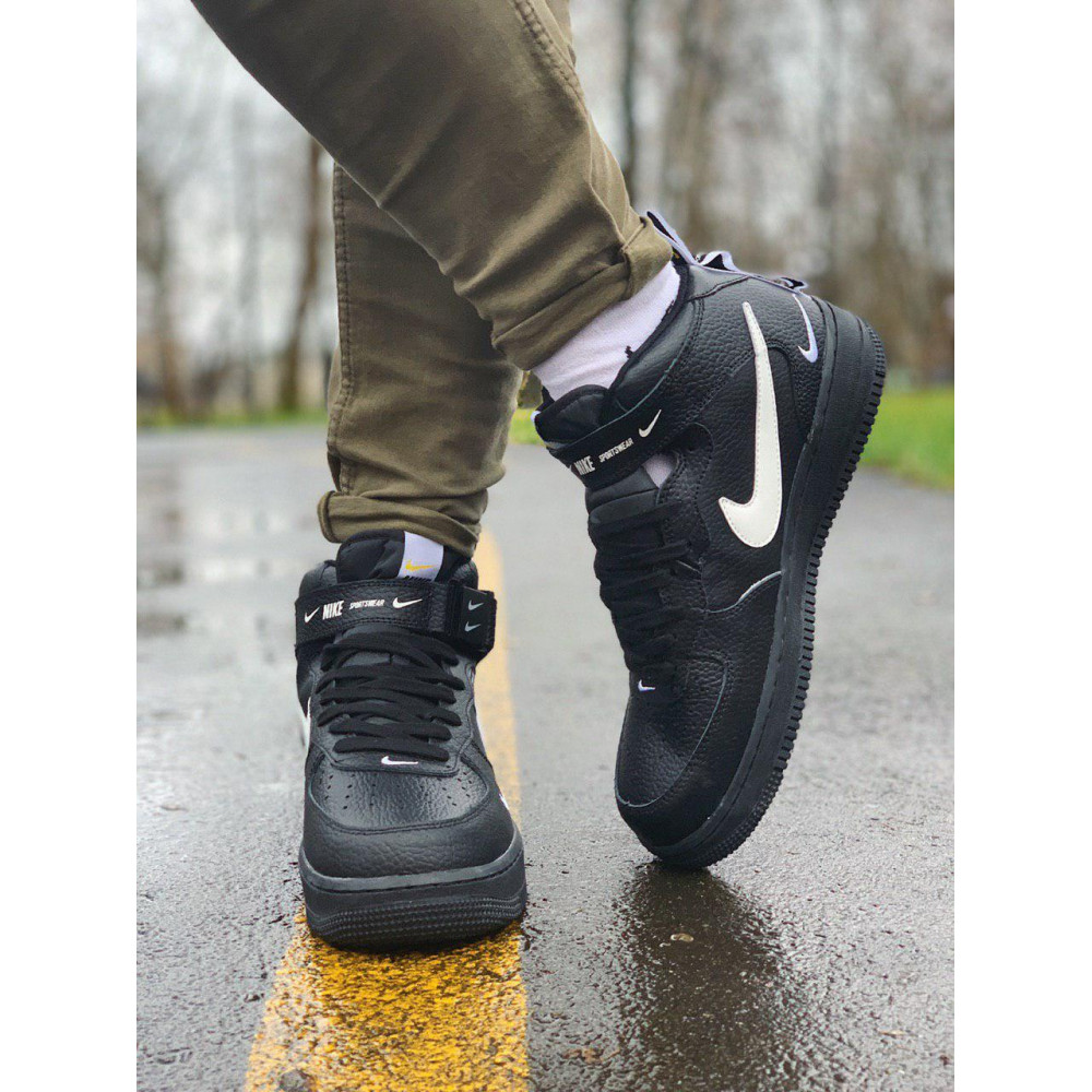 Демисезонные кроссовки мужские   - Кроссовки  высокие натуральная кожа  Nike Air Force Найк Аир Форс (40,41,42,44,45) 7