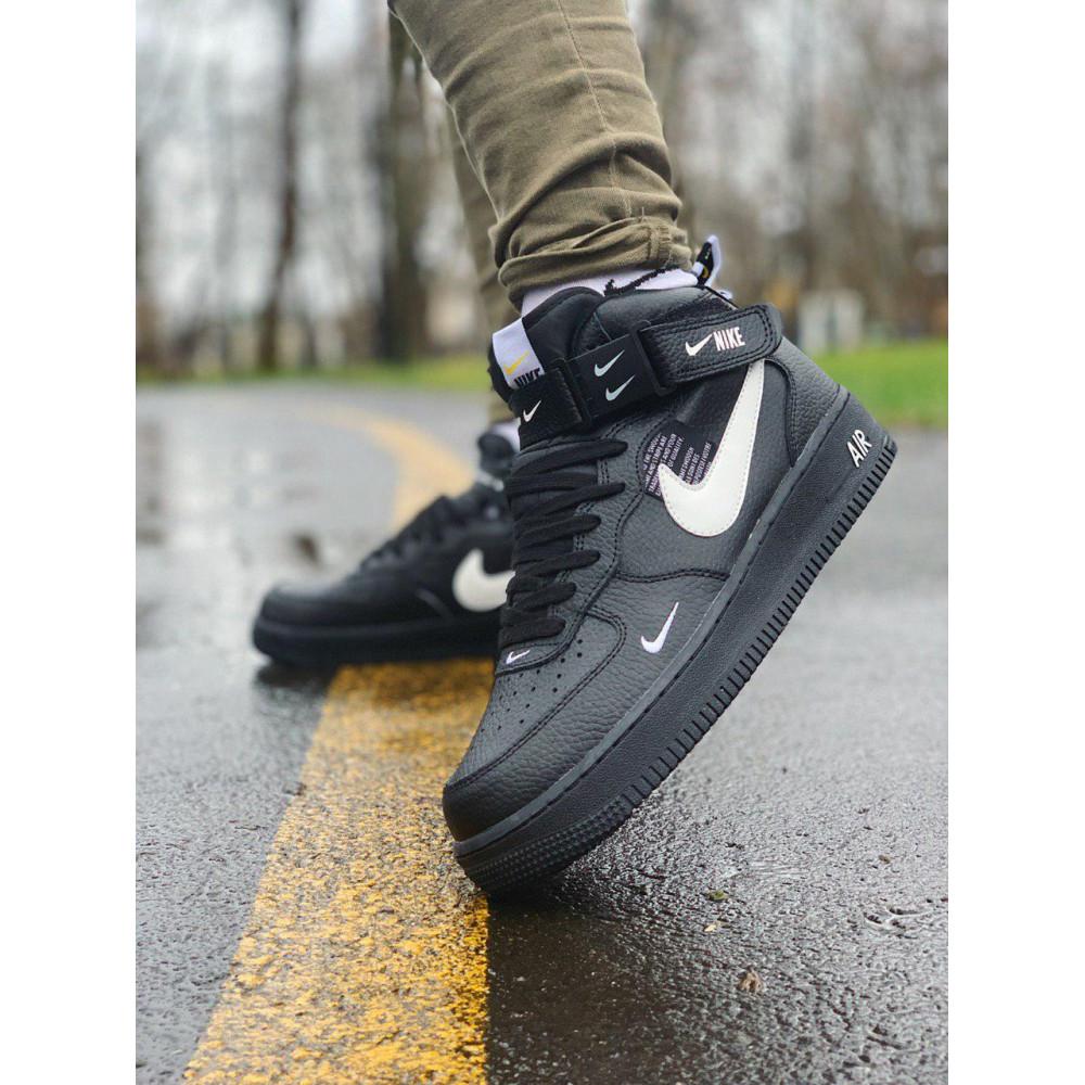 Демисезонные кроссовки мужские   - Кроссовки  высокие натуральная кожа  Nike Air Force Найк Аир Форс (40,41,42,44,45)