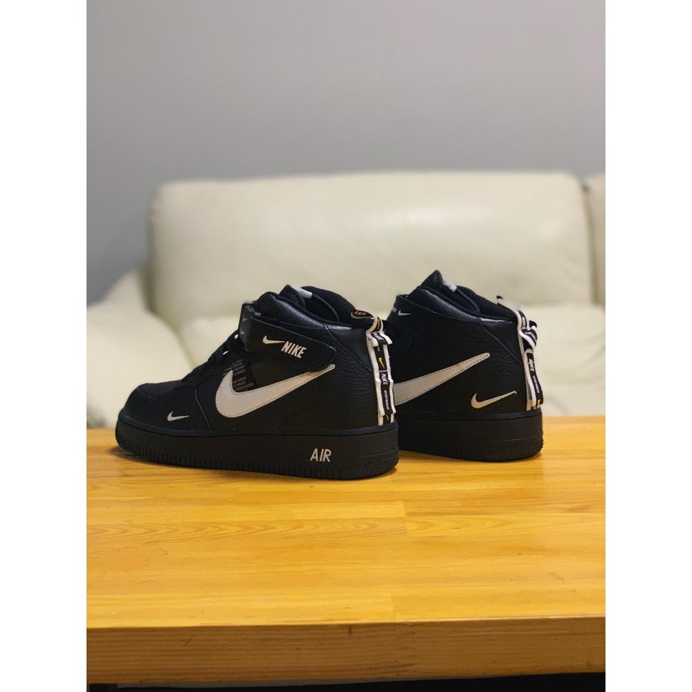 Демисезонные кроссовки мужские   - Кроссовки  высокие натуральная кожа  Nike Air Force Найк Аир Форс (40,41,42,44,45) 4