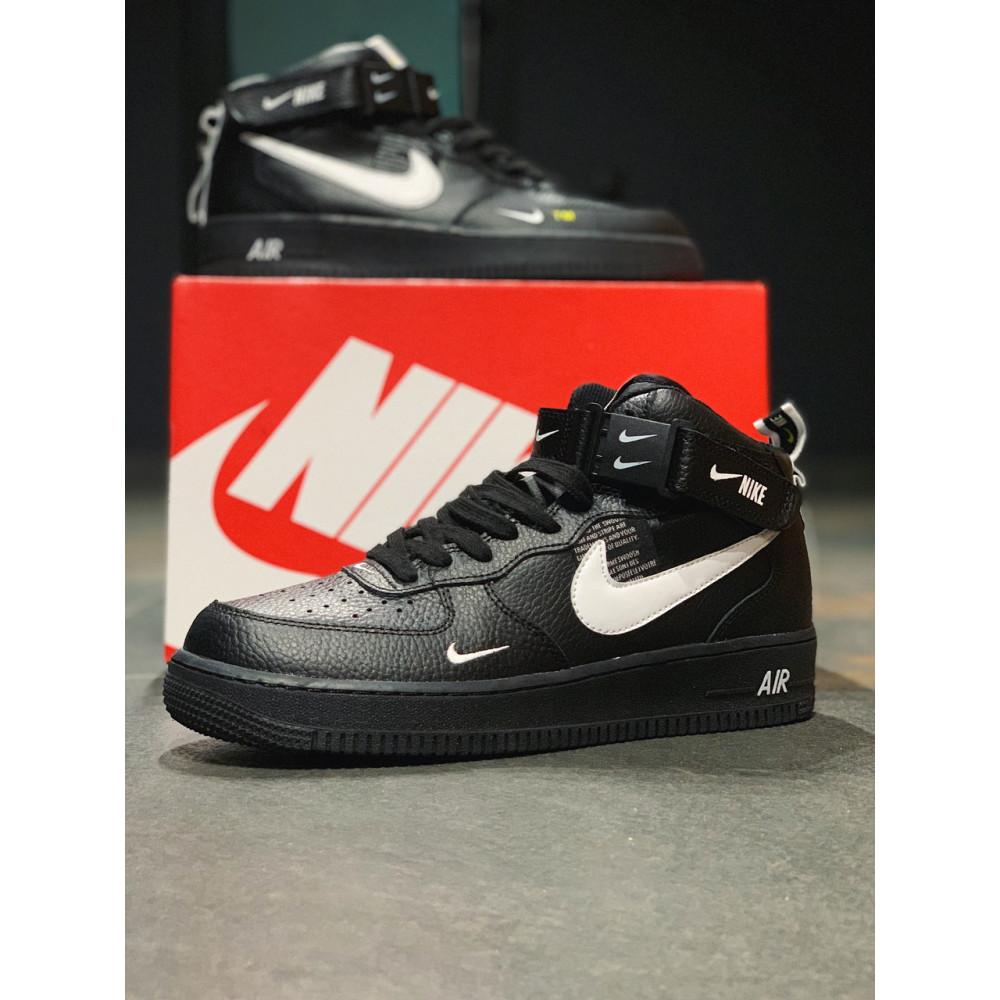 Демисезонные кроссовки мужские   - Кроссовки  высокие натуральная кожа  Nike Air Force Найк Аир Форс (40,41,42,44,45) 2