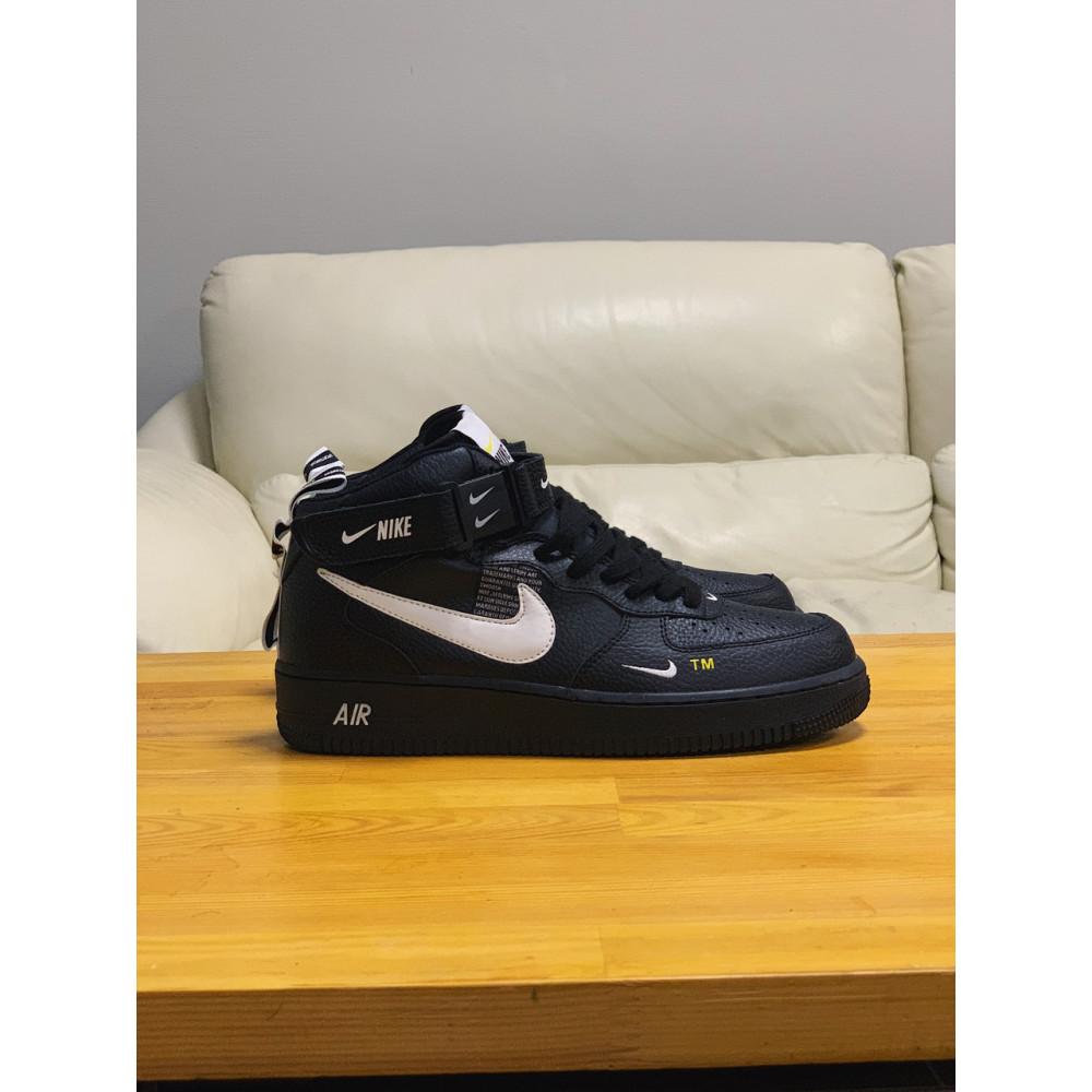 Демисезонные кроссовки мужские   - Кроссовки  высокие натуральная кожа  Nike Air Force Найк Аир Форс (40,41,42,44,45) 1