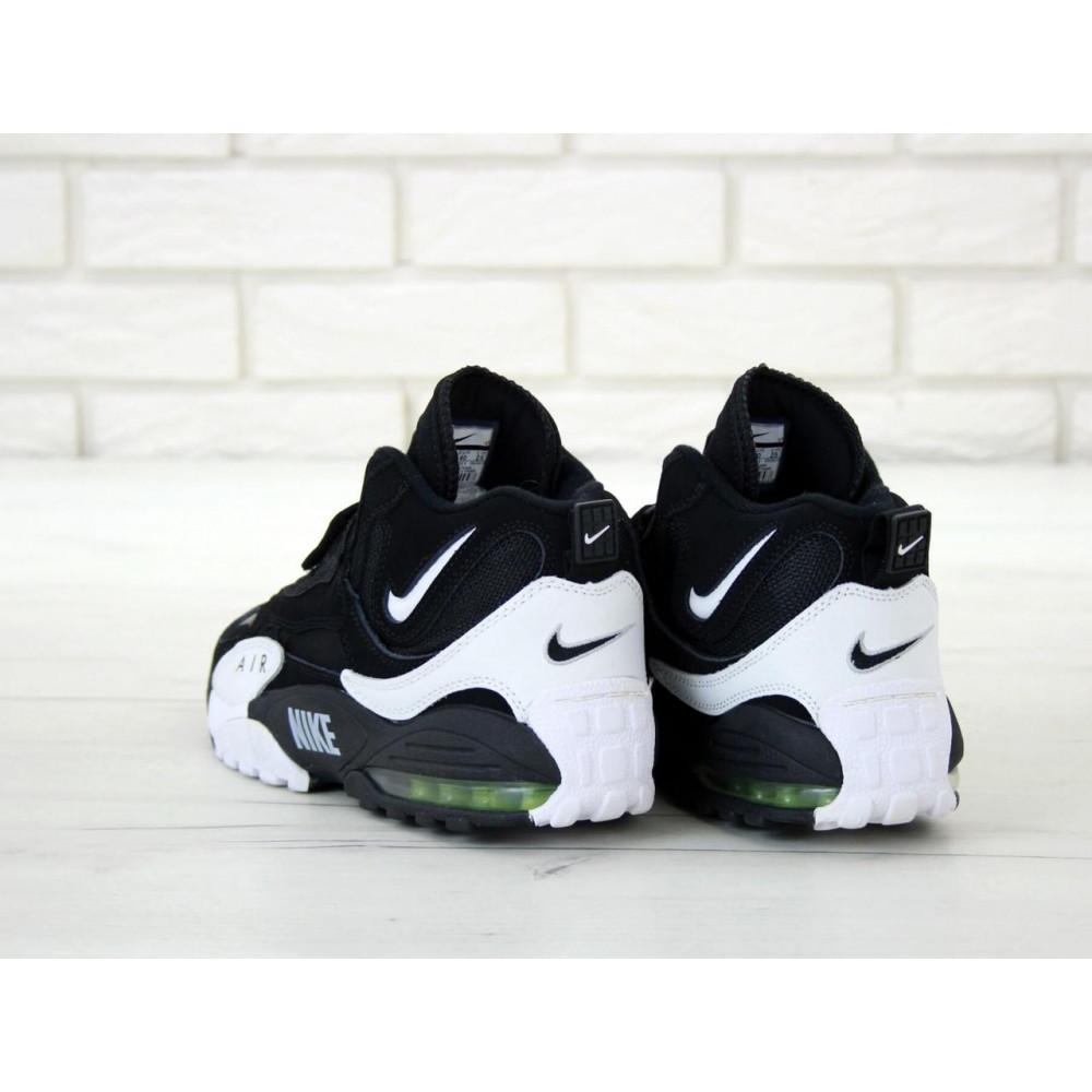 Демисезонные кроссовки мужские   - Мужские кроссовки Nike Air Max Speed Turf в черно-белом цвете 5