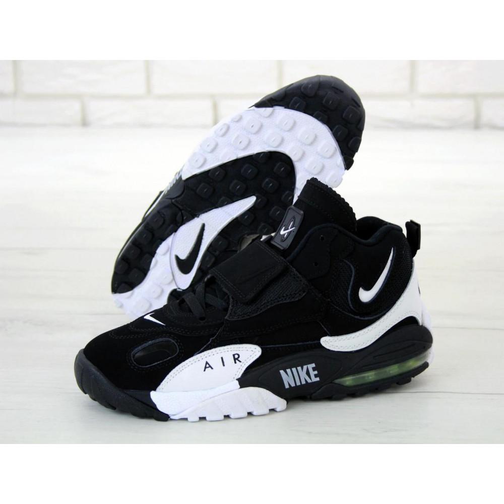 Демисезонные кроссовки мужские   - Мужские кроссовки Nike Air Max Speed Turf в черно-белом цвете 3