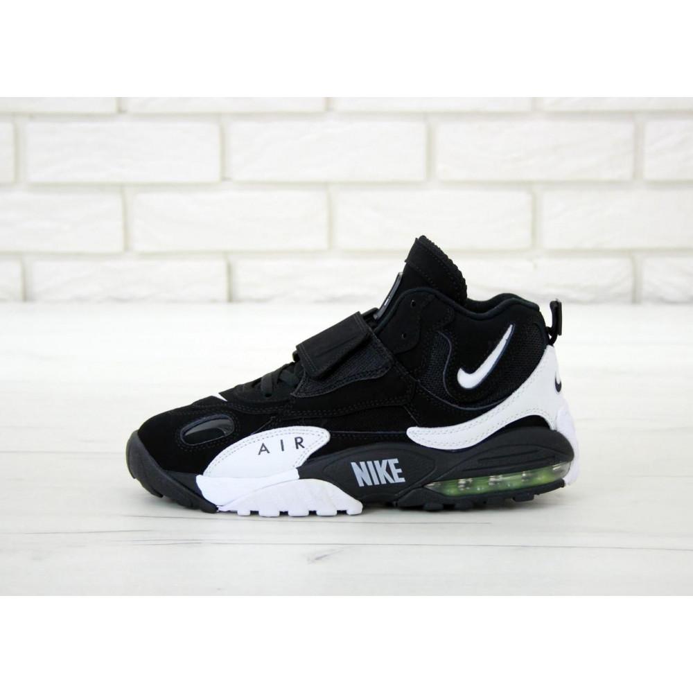 Демисезонные кроссовки мужские   - Мужские кроссовки Nike Air Max Speed Turf в черно-белом цвете 1