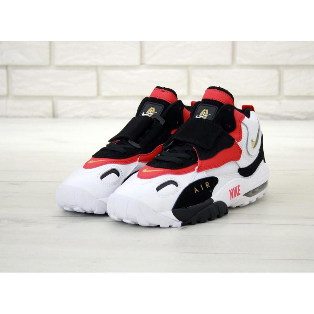 Демисезонные кроссовки мужские   - Мужские кроссовки Air Max Speed Turf черно-бело-красные 2