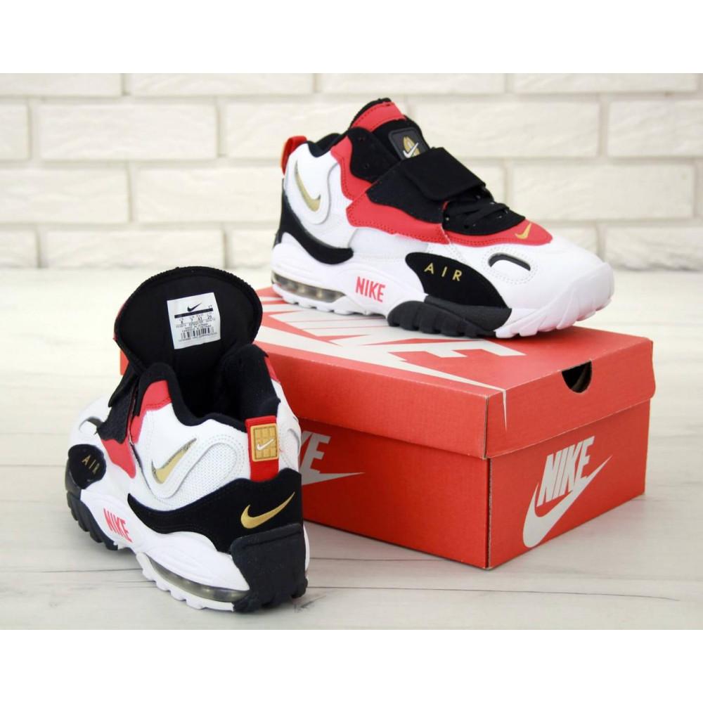 Демисезонные кроссовки мужские   - Мужские кроссовки Air Max Speed Turf черно-бело-красные 4